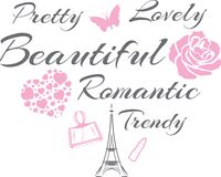 Hübsch und reizend Sch?nes romantisches Design lizenzfreie abbildung