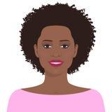 Hübsche Afroamerikanerfrau lizenzfreie abbildung
