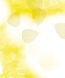 Hübsche Blattschablone Stockbild