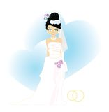 Hübsche Braut lizenzfreie abbildung