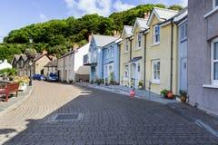 Hübsche bunte Häuser, Fishguard, Wales Großbritannien lizenzfreies stockbild