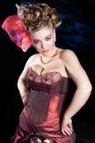 Hübsche Dame in fancy-dress Stockbilder