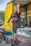 Hübsche Damen und feine Kostüme Lizenzfreie Stockfotografie