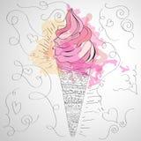 Hübsche Eiscreme lizenzfreie stockfotos