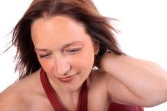 Hübsche Frau in ihren Vierzigern Stockfoto
