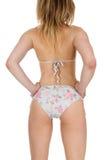 Hübsche Frau im Bikini Stockfotos