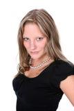 Hübsche Frau mit gut definierten Wangenknochen lizenzfreies stockbild