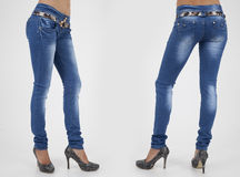 Hübsche Frauen in den festen Jeans Stockfotos