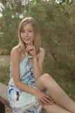 Hübsche Frauen im Park Lizenzfreie Stockfotografie