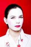 Hübsche Geisha Stockfoto
