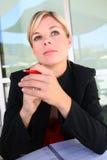 Hübsche Geschäftsfrau Stockfotos