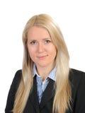 Hübsche Geschäftsfrau in der schwarzen Klage und im Hemd Lizenzfreie Stockfotografie