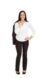 Hübsche Geschäftsfrau, die an der Kamera lächelt Stockfoto