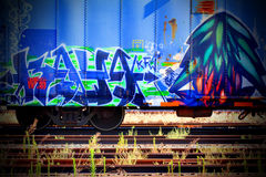 Hübsche Graffiti Stockfoto
