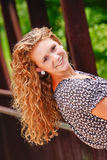 Hübsche Jugendliche-langes blondes Haar Lizenzfreies Stockbild