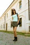 Hübsche Mädchenaufstellung Lizenzfreie Stockfotos