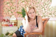 Hübsche Mädchenaufstellung Lizenzfreie Stockbilder