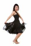 Hübsche Tanzenfrau Lizenzfreies Stockfoto