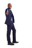 Hübscher afrikanischer Geschäftsmann stockbilder