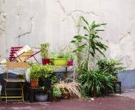 Hübscher Bereich, wenn Grungy Hof in Paris verfallen wird Lizenzfreie Stockfotografie