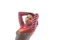Hübscher Brunette stockbilder