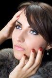 Hübscher Brunette lizenzfreies stockfoto