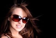 Hübscher Brunette Stockbild