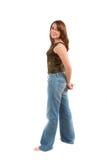 Hübscher Brunette; volles bodyshot Stockfotos