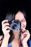 Hübscher Fotograf stockfoto