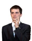 Hübscher Geschäftsmann Thinking Stockfotografie