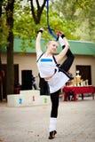 Hübscher Gymnast Lizenzfreie Stockfotos