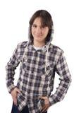 Hübsches Jugendlichlächeln Lizenzfreie Stockfotos
