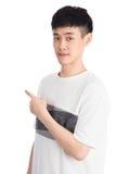 Hübscher junger Asien-Mann - lokalisiert über einem weißen Hintergrund Stockbilder