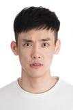 Hübscher junger Asien-Mann - lokalisiert über einem weißen Hintergrund Stockfotos