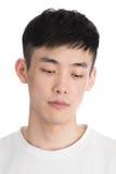 Hübscher junger Asien-Mann - lokalisiert über einem weißen Hintergrund Lizenzfreies Stockbild