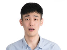 Hübscher junger Asien-Mann - lokalisiert über einem weißen Hintergrund Lizenzfreie Stockbilder