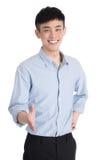 Hübscher junger Asien-Mann - lokalisiert über einem weißen Hintergrund Stockfoto