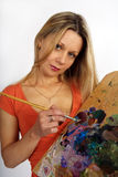 Hübscher Künstler Stockbilder