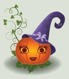 Hübscher Kürbis Halloweens, Vektor Lizenzfreie Stockfotografie