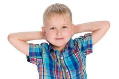Hübscher kleiner blonder Junge Lizenzfreie Stockbilder