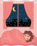 Hübscher Mädchenschlaf Lizenzfreies Stockfoto