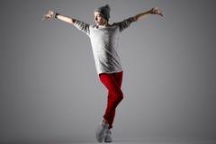 Hübscher moderner Tänzer lizenzfreies stockbild