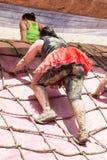 Hübscher Muddy Race für das Leben Stockfotos