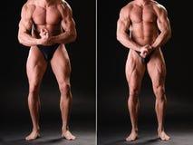Hübscher muskulöser Bodybuilder Lizenzfreie Stockfotos