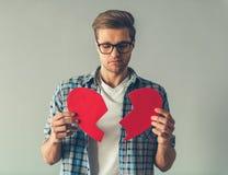 Hübscher romantischer Kerl Stockfotografie