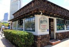 Hübscher Shop mit offener Tür, der Mistelzweig-Feiertags-Speicher, San Diego California, 2016 Stockfoto