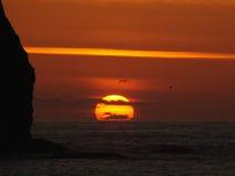 Hübscher Sonnenuntergang Lizenzfreies Stockfoto
