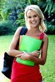 Hübscher Student Outdoors Lizenzfreie Stockbilder