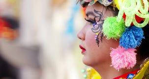 Hübscher Teilnehmer von Parade Asienspieles 2018 stock video