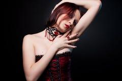 Hübscher Vampir Stockbild